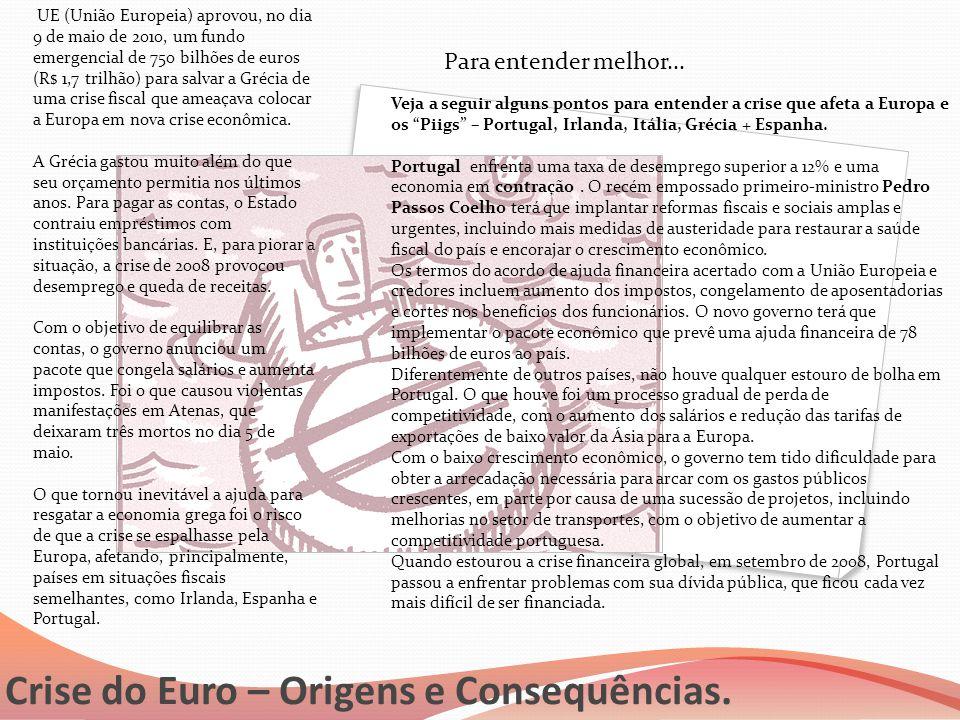 Crise do Euro – Origens e Consequências.