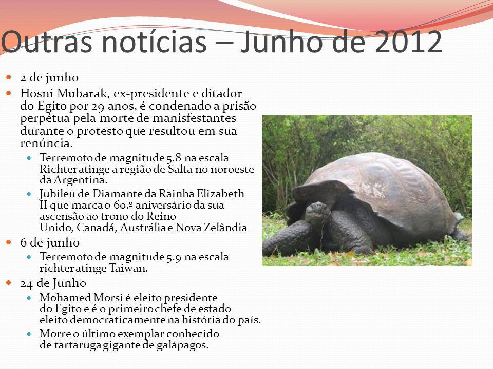 Outras notícias – Junho de 2012