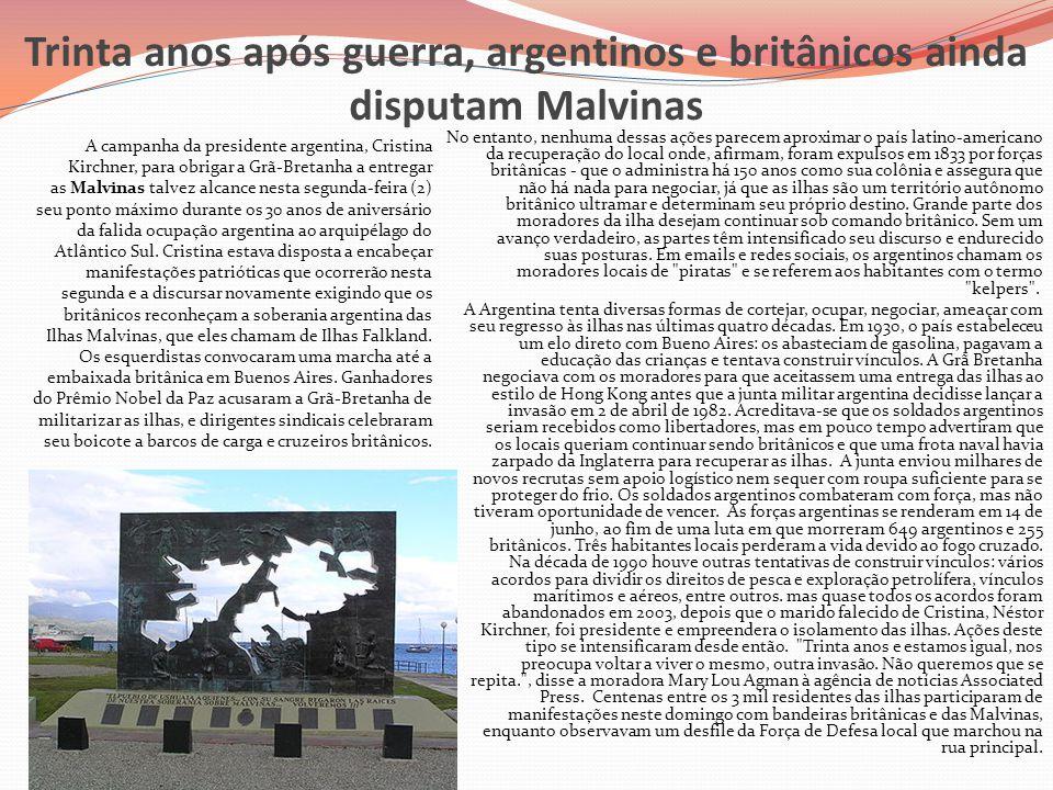 Trinta anos após guerra, argentinos e britânicos ainda disputam Malvinas