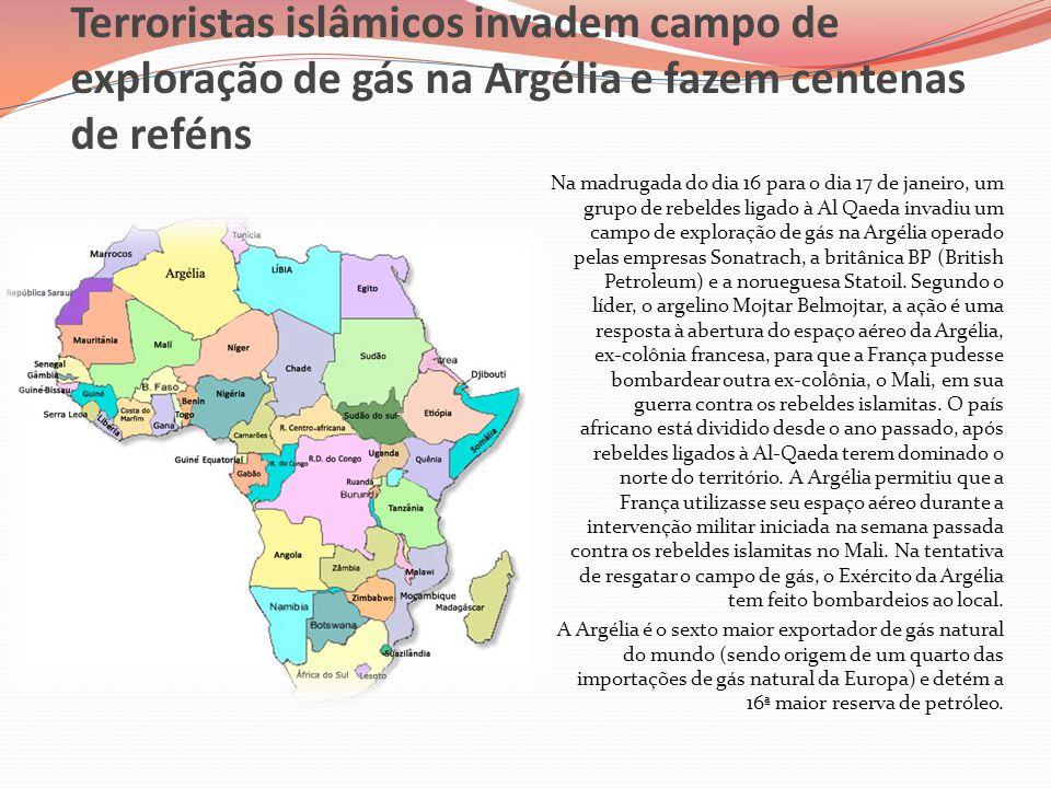 Terroristas islâmicos invadem campo de exploração de gás na Argélia e fazem centenas de reféns