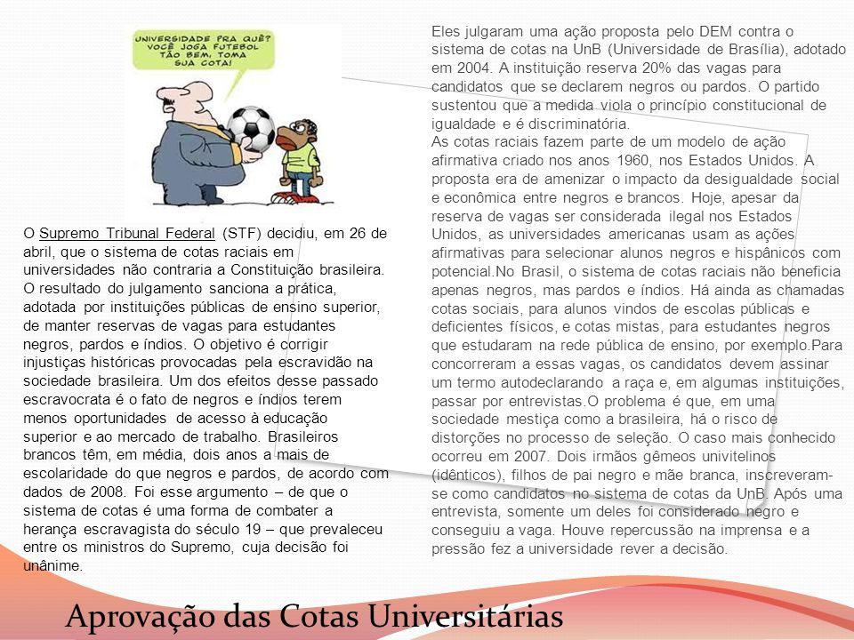 Aprovação das Cotas Universitárias