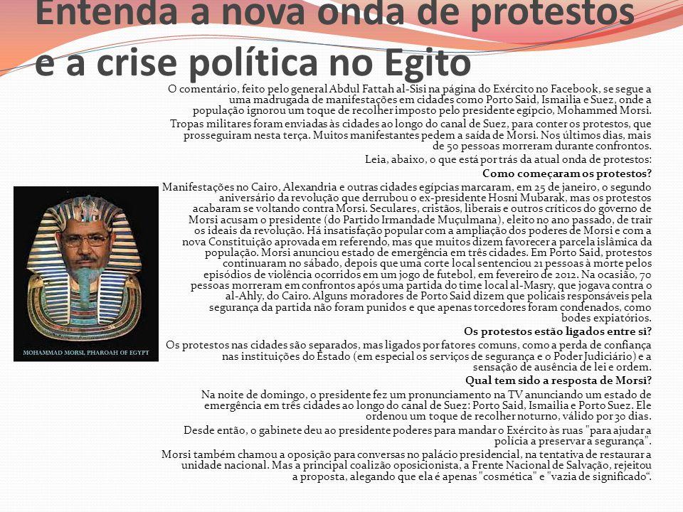 Entenda a nova onda de protestos e a crise política no Egito