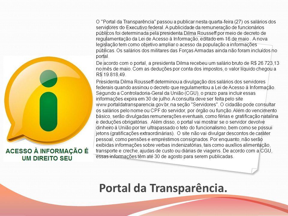 Portal da Transparência.