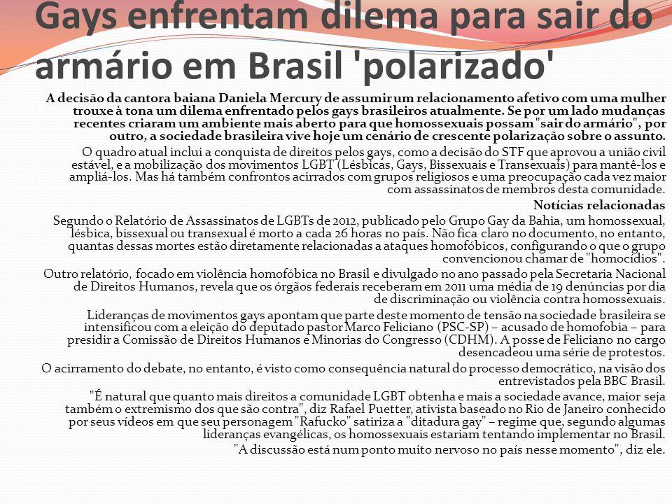 Gays enfrentam dilema para sair do armário em Brasil polarizado