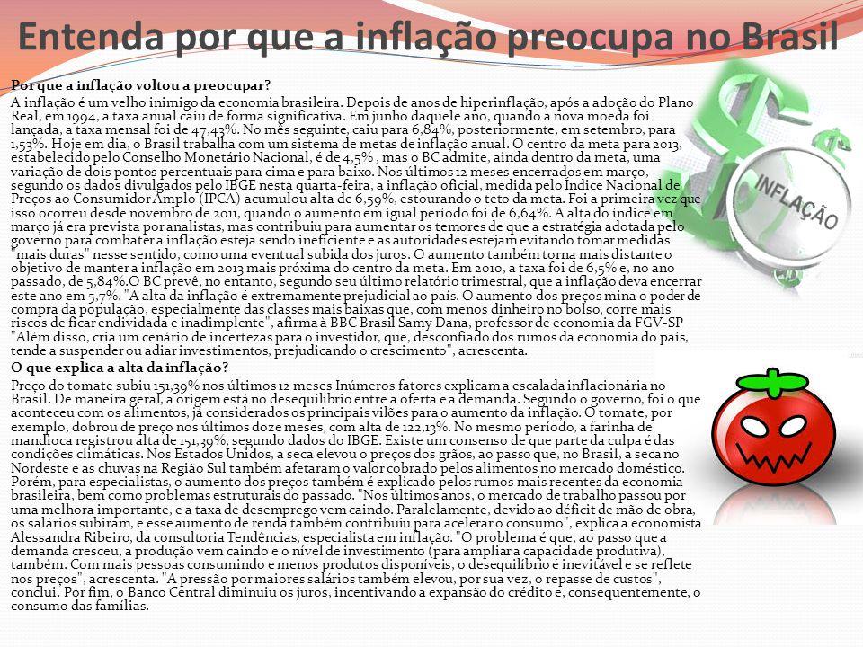 Entenda por que a inflação preocupa no Brasil