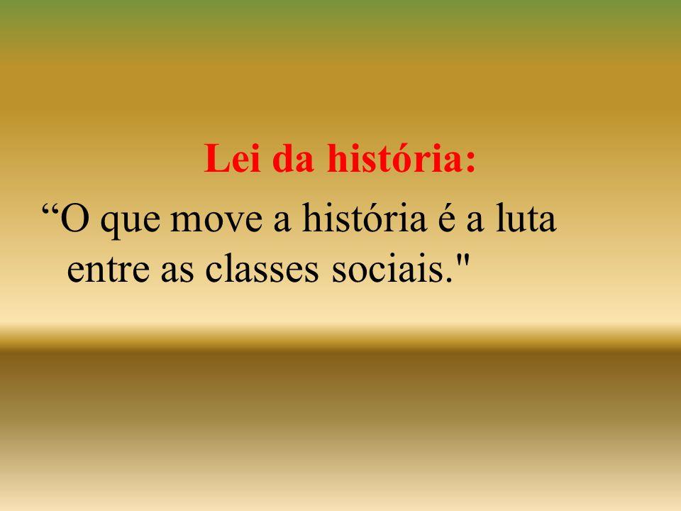 Lei da história: O que move a história é a luta entre as classes sociais.
