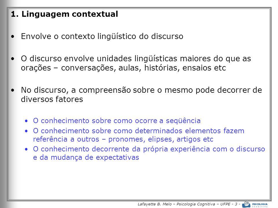 Lafayette B. Melo – Psicologia Cognitiva – UFPE - 3 -