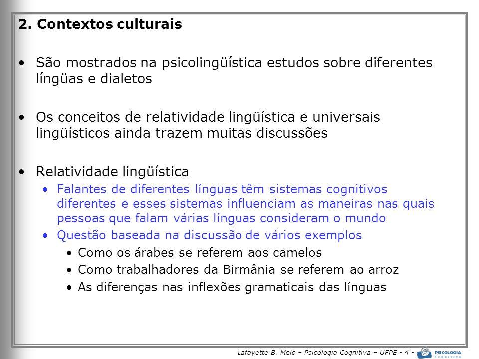 Lafayette B. Melo – Psicologia Cognitiva – UFPE - 4 -