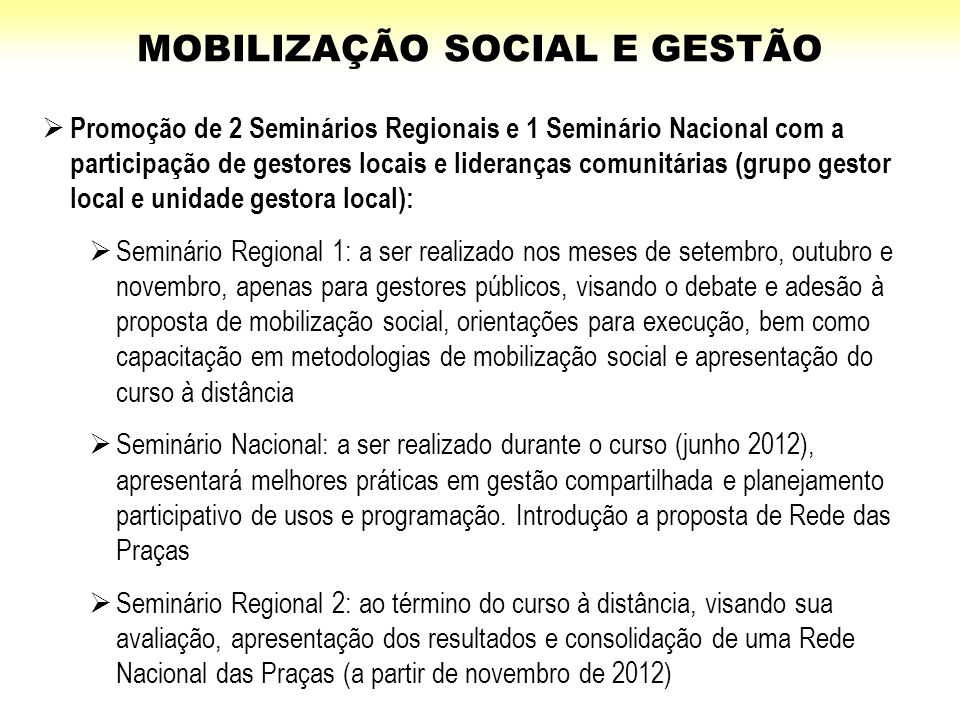 MOBILIZAÇÃO SOCIAL E GESTÃO