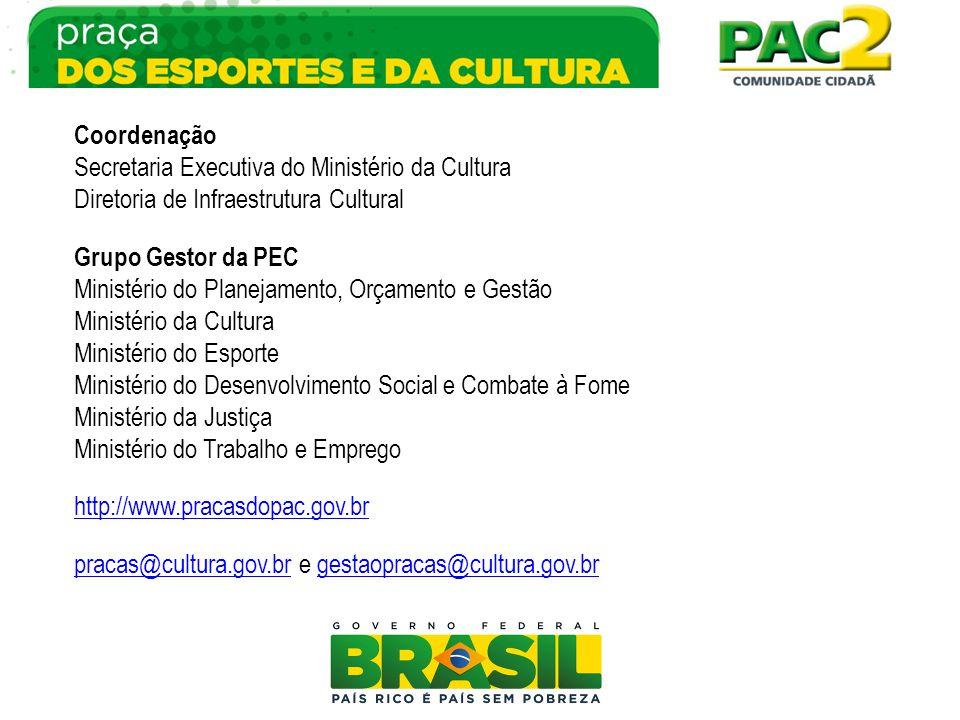 Coordenação Secretaria Executiva do Ministério da Cultura. Diretoria de Infraestrutura Cultural. Grupo Gestor da PEC.