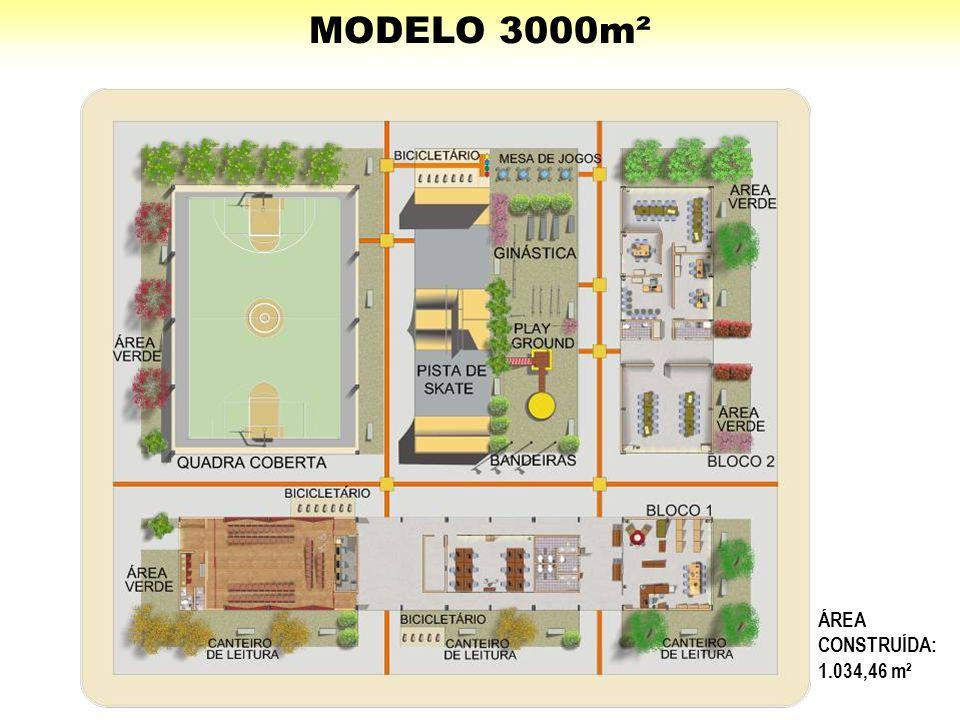 MODELO 3000m² ÁREA CONSTRUÍDA: 1.034,46 m²