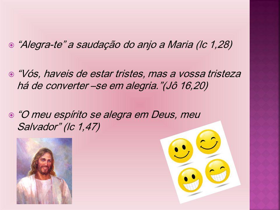 Alegra-te a saudação do anjo a Maria (lc 1,28)