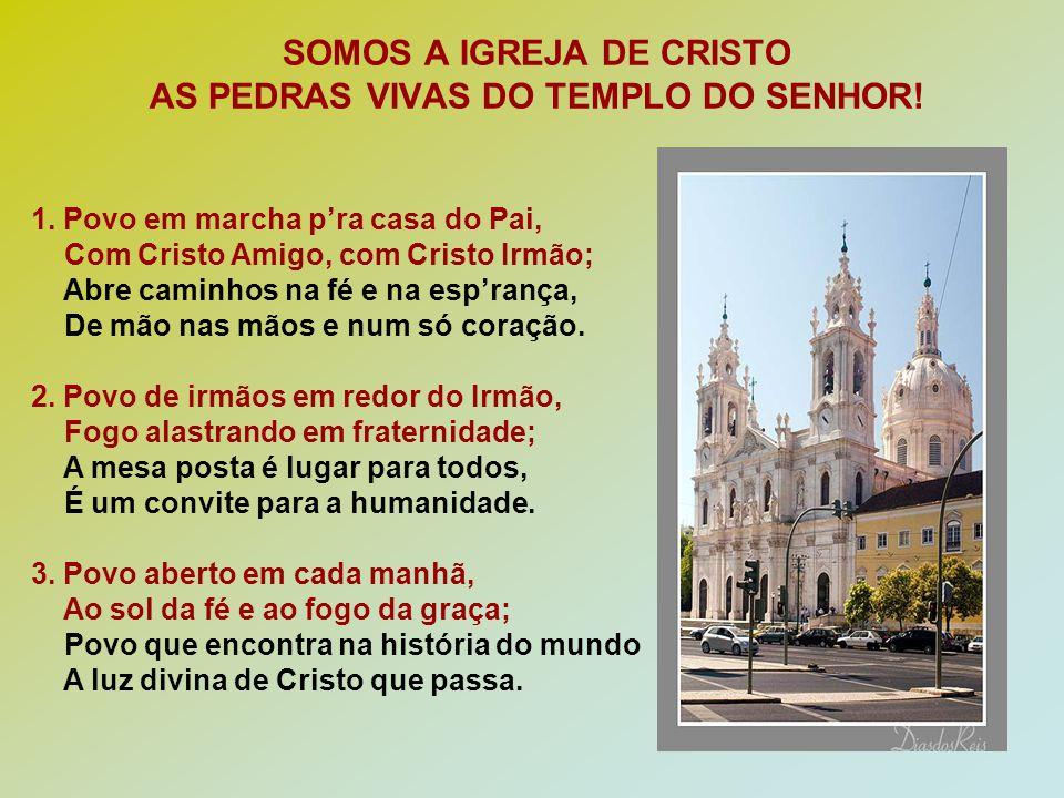 SOMOS A IGREJA DE CRISTO AS PEDRAS VIVAS DO TEMPLO DO SENHOR!