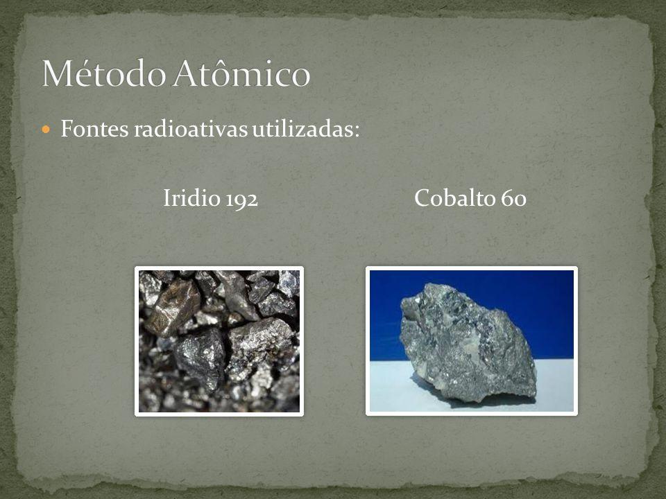 Método Atômico Fontes radioativas utilizadas: Iridio 192 Cobalto 60