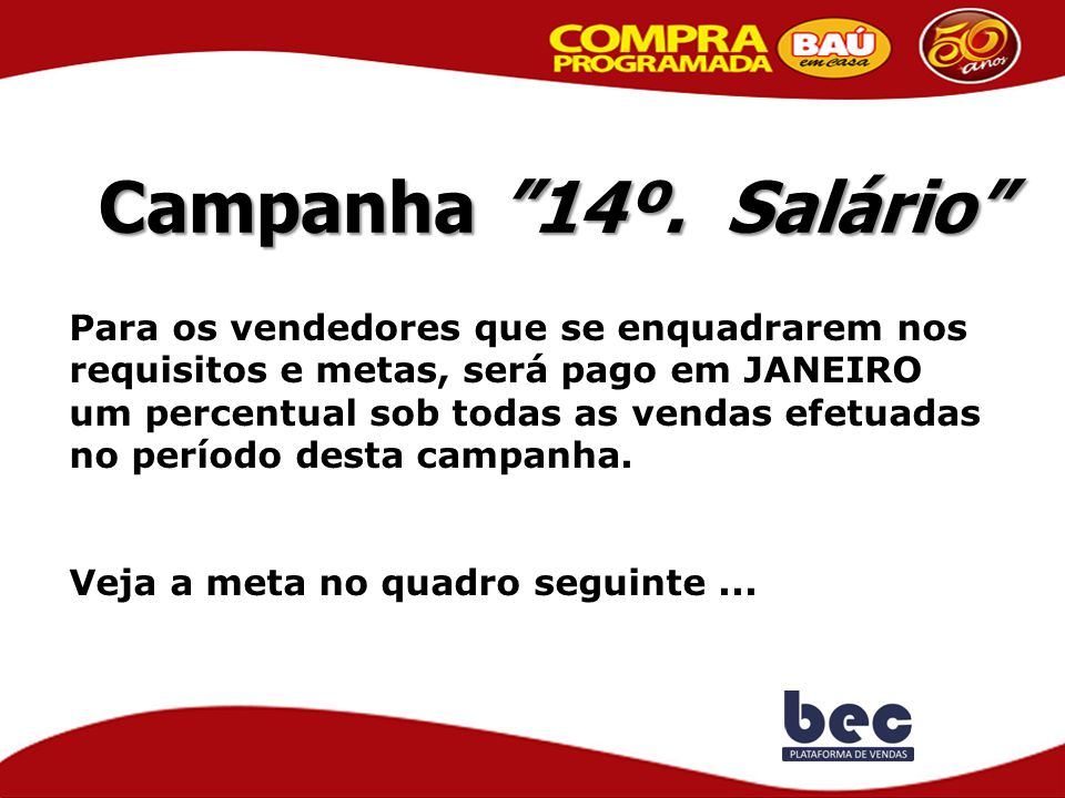 Campanha 14º. Salário