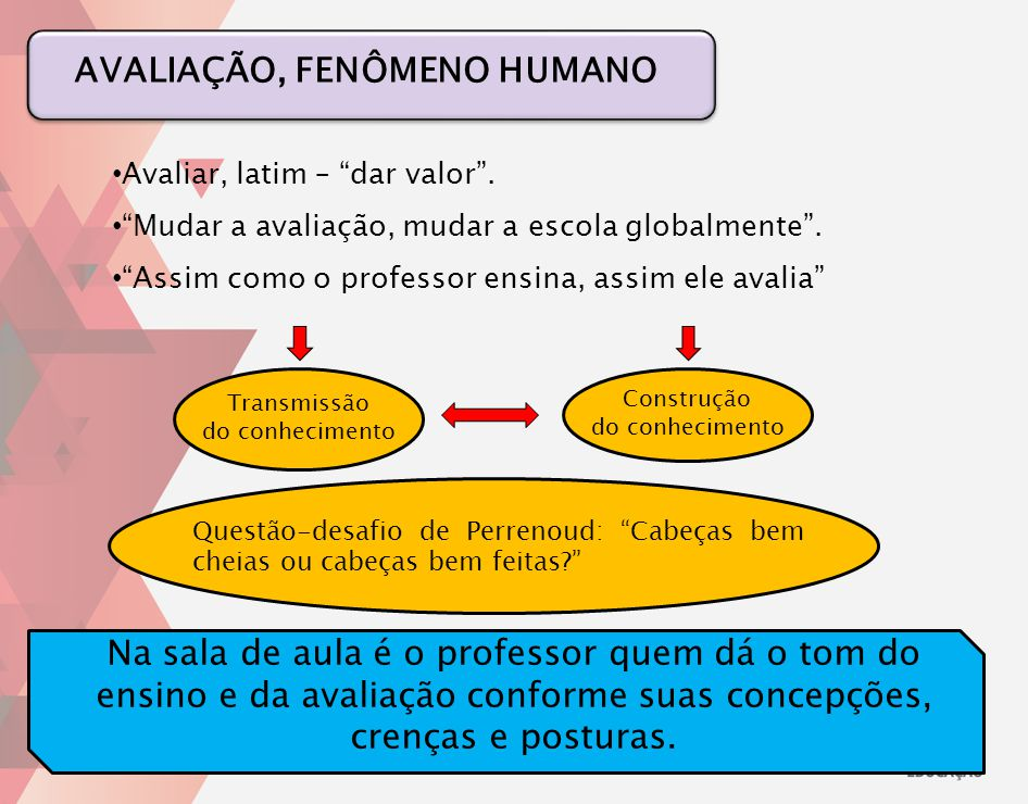 AVALIAÇÃO, FENÔMENO HUMANO