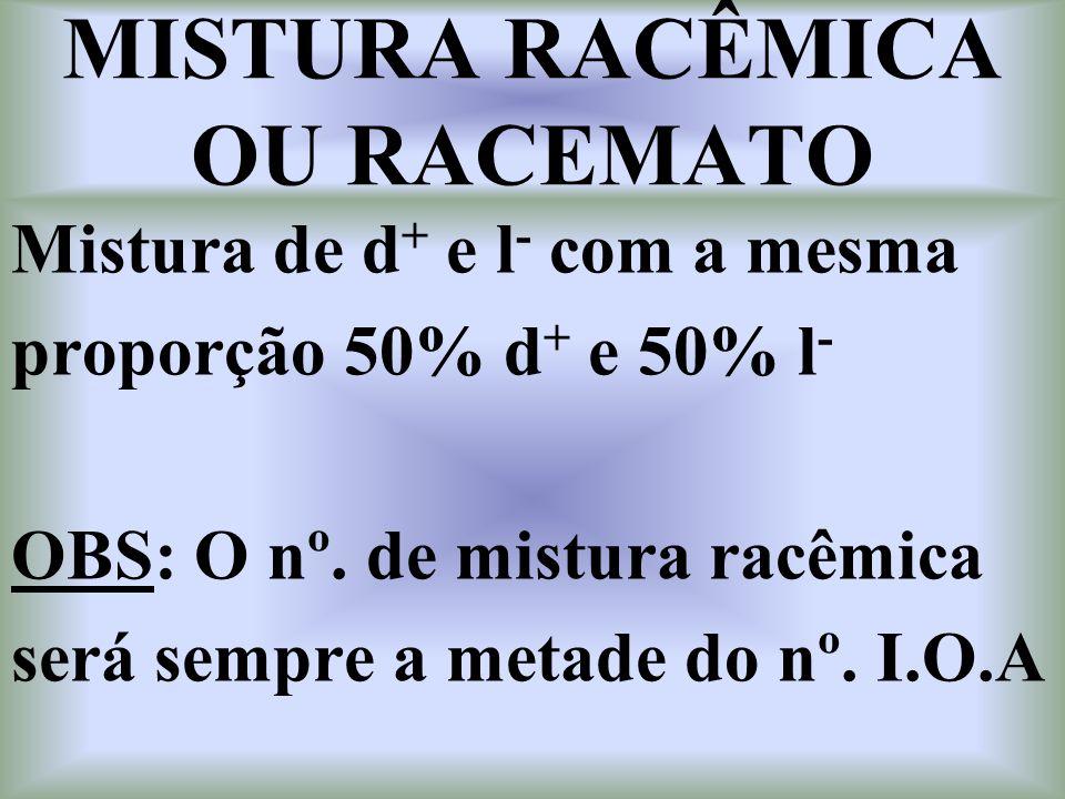 MISTURA RACÊMICA OU RACEMATO