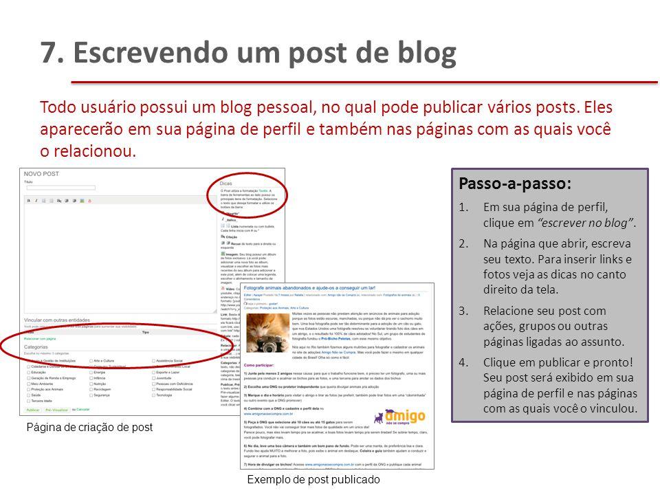 7. Escrevendo um post de blog