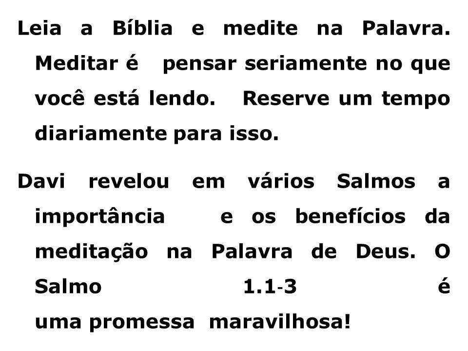 Leia a Bíblia e medite na Palavra