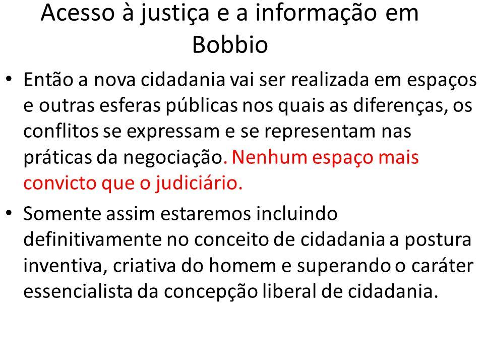 Acesso à justiça e a informação em Bobbio