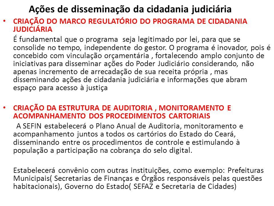 Ações de disseminação da cidadania judiciária
