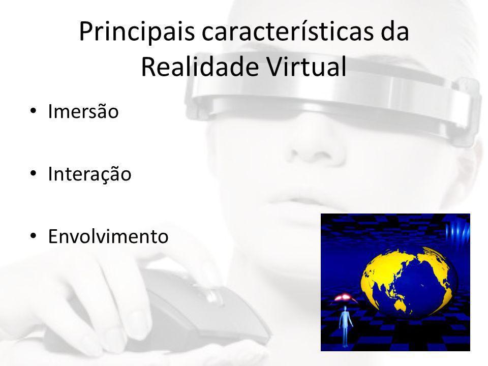 Principais características da Realidade Virtual