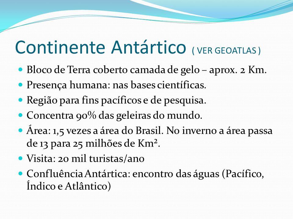 Continente Antártico ( VER GEOATLAS )