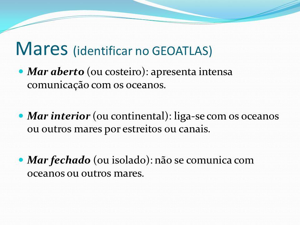 Mares (identificar no GEOATLAS)
