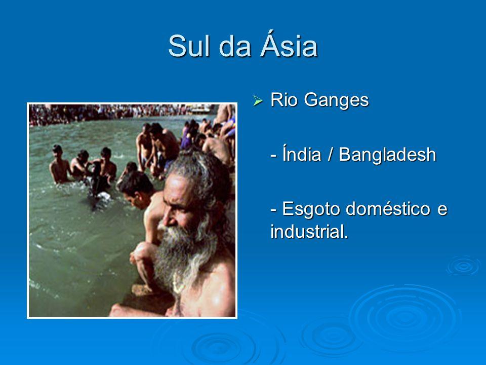 Sul da Ásia Rio Ganges - Índia / Bangladesh