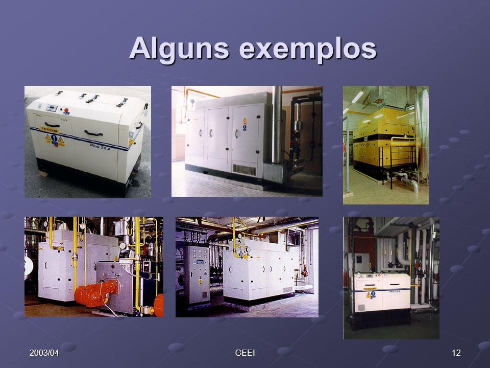 Alguns exemplos 2003/04 GEEI