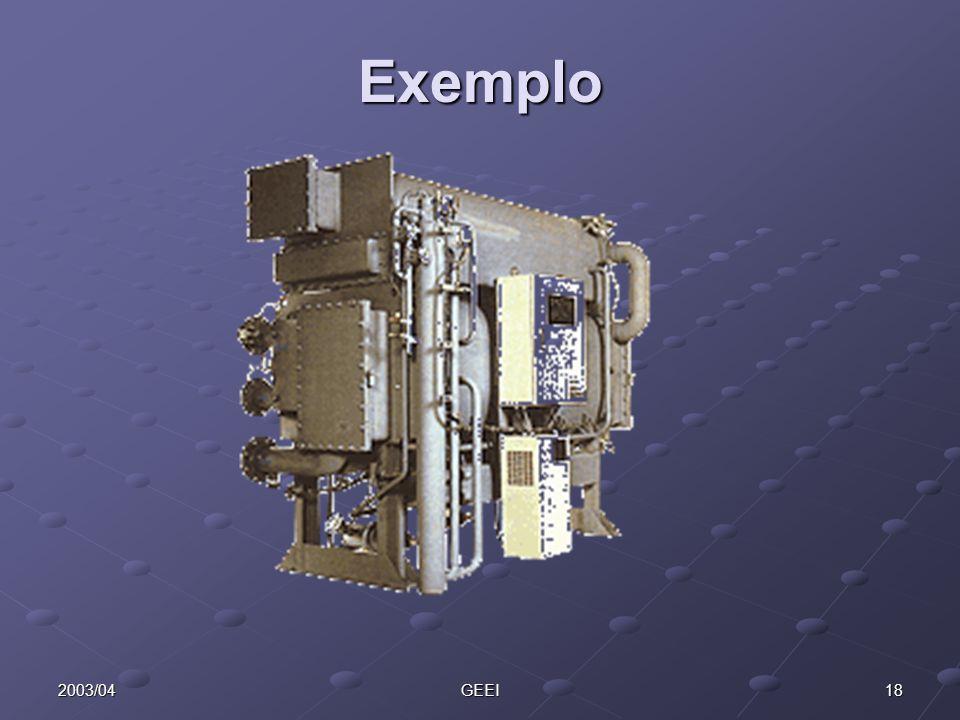 Exemplo 2003/04 GEEI