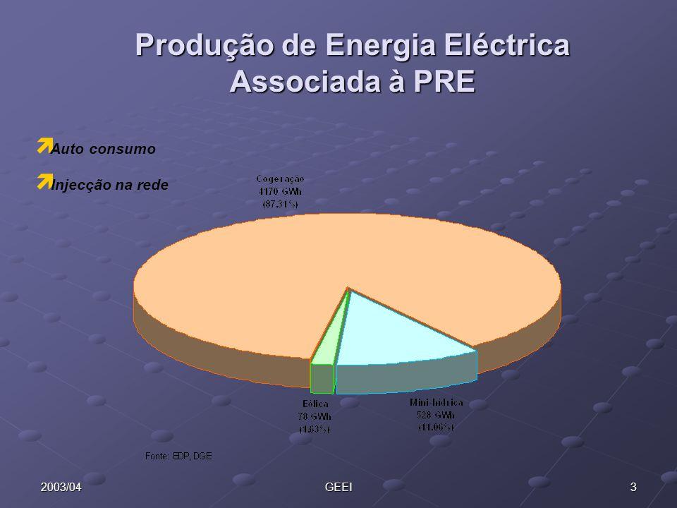 Produção de Energia Eléctrica Associada à PRE