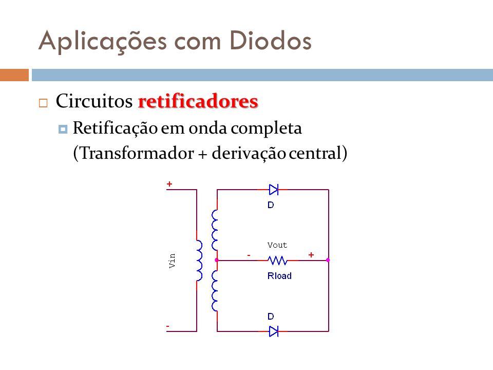 Aplicações com Diodos Circuitos retificadores