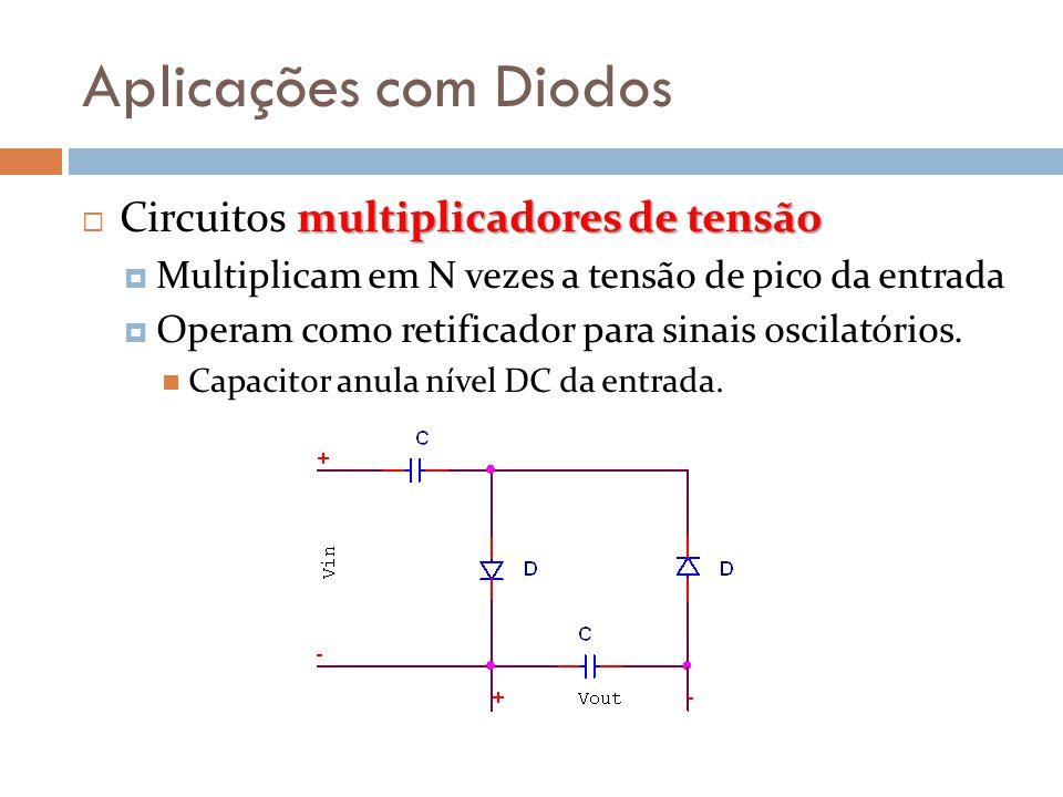 Aplicações com Diodos Circuitos multiplicadores de tensão