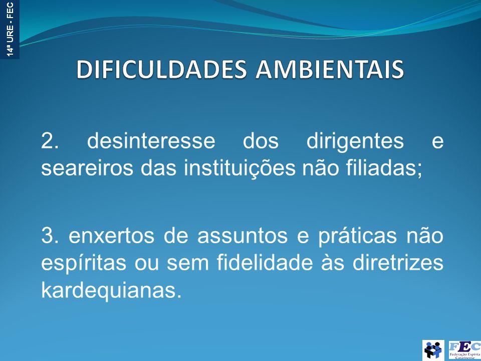 DIFICULDADES AMBIENTAIS