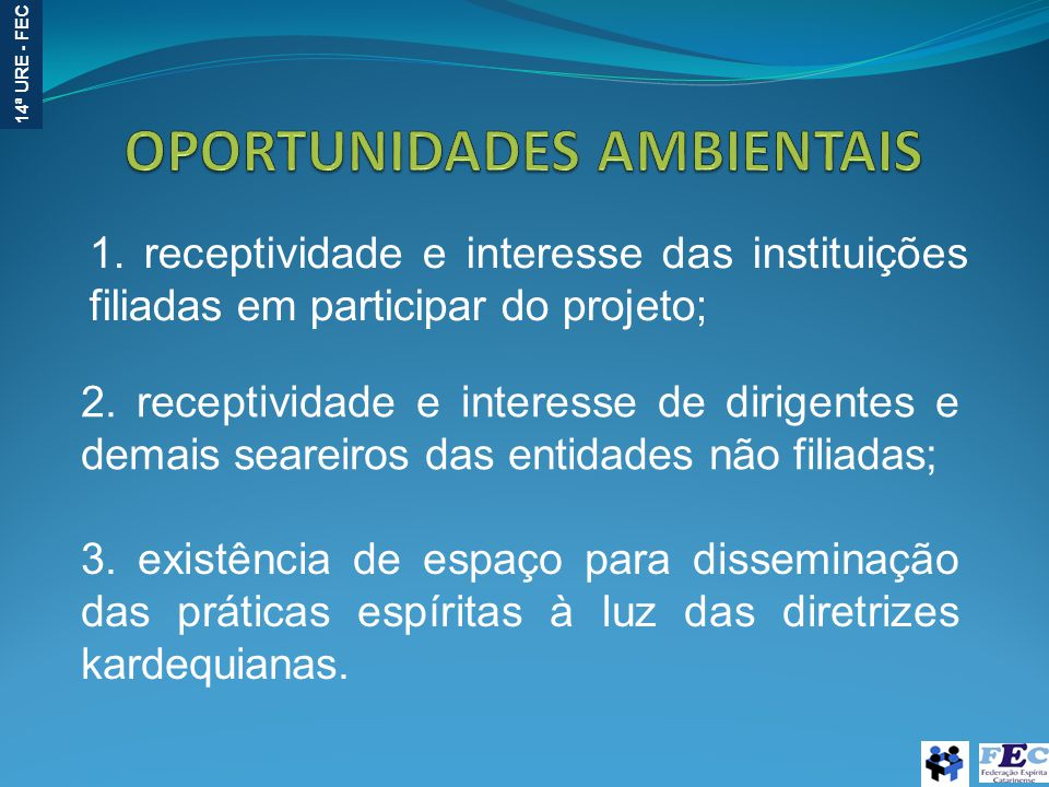 OPORTUNIDADES AMBIENTAIS