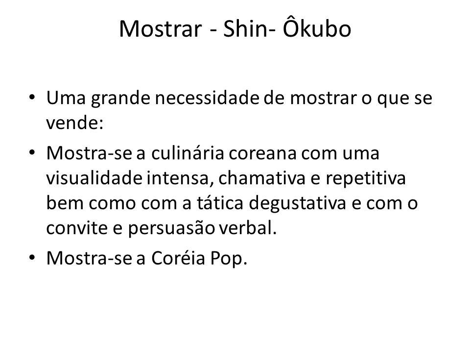 Mostrar - Shin- Ôkubo Uma grande necessidade de mostrar o que se vende: