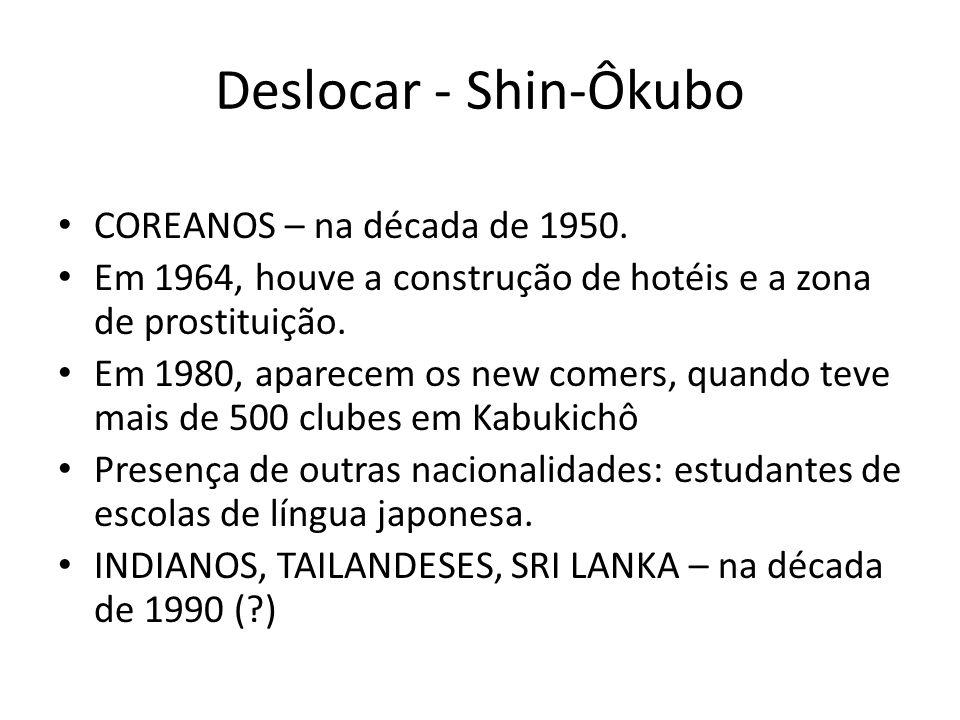 Deslocar - Shin-Ôkubo COREANOS – na década de 1950.