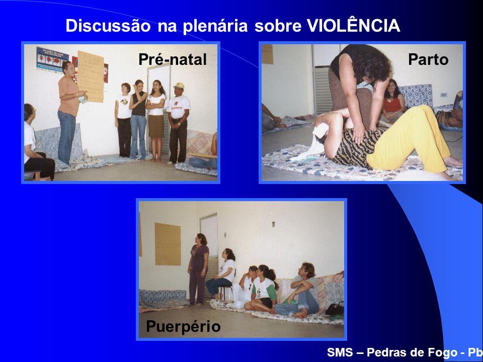 Discussão na plenária sobre VIOLÊNCIA