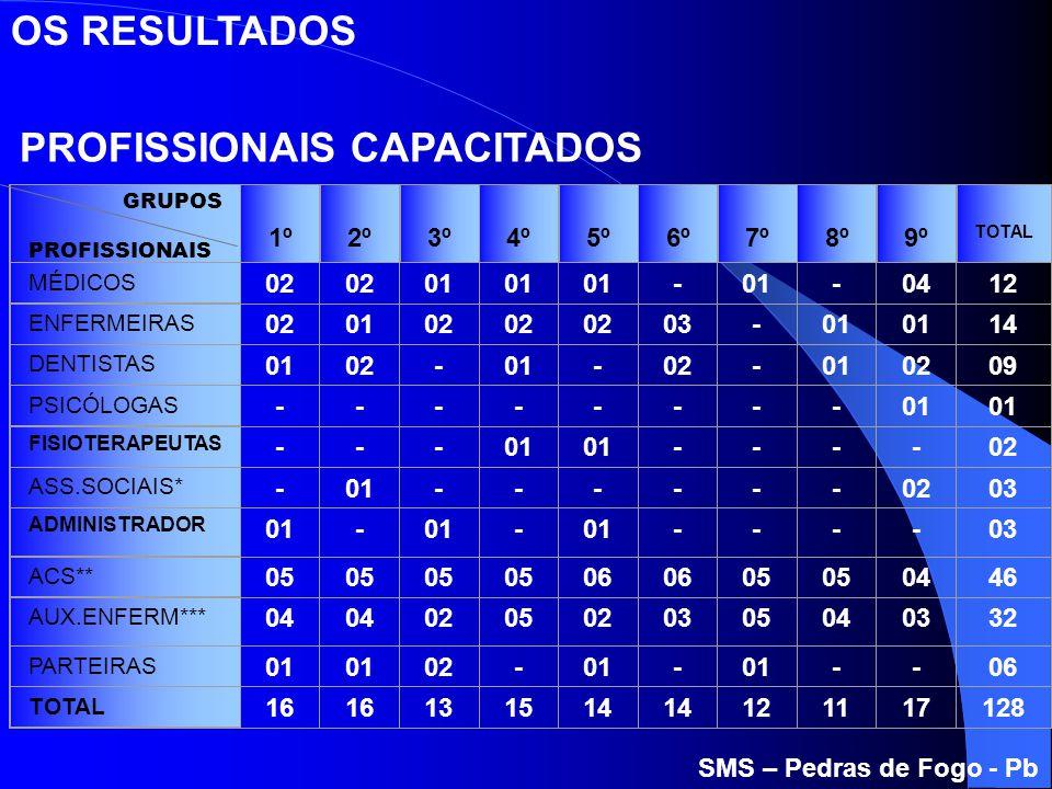 PROFISSIONAIS CAPACITADOS