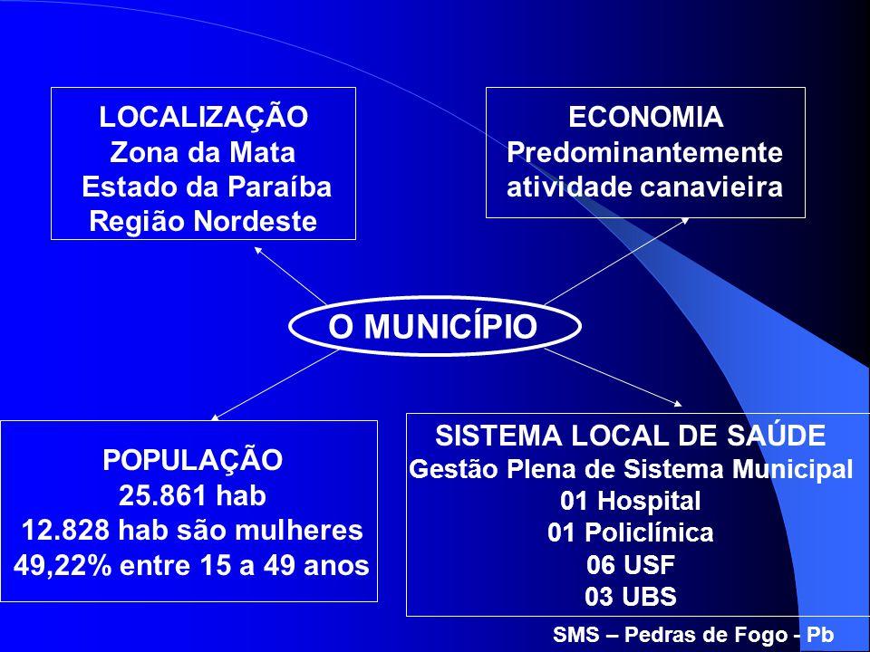 O MUNICÍPIO LOCALIZAÇÃO Zona da Mata Estado da Paraíba Região Nordeste