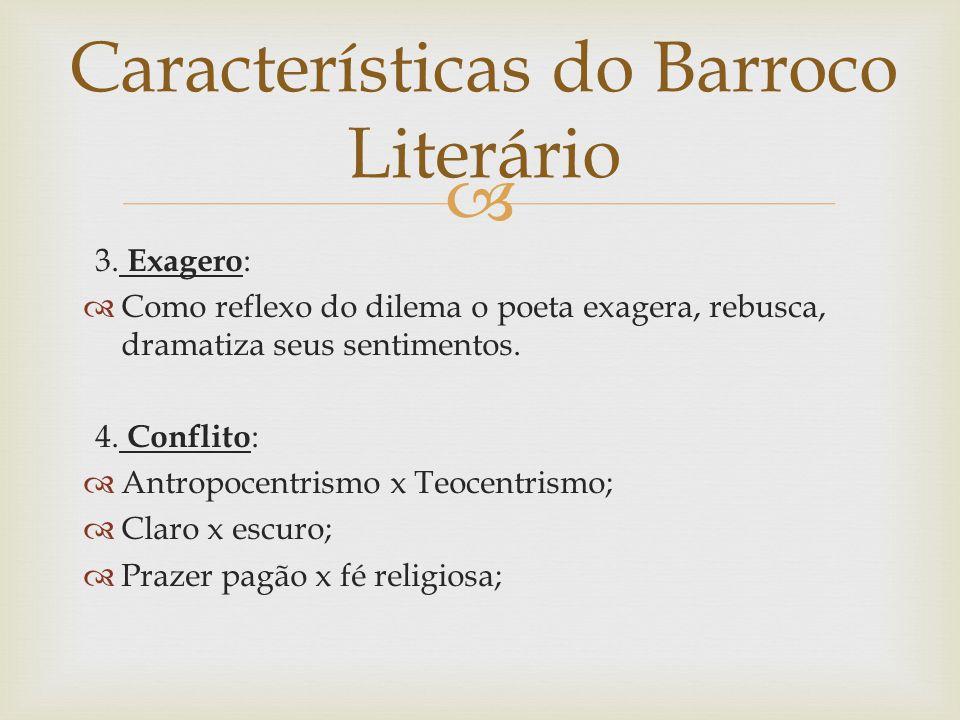 Características do Barroco Literário