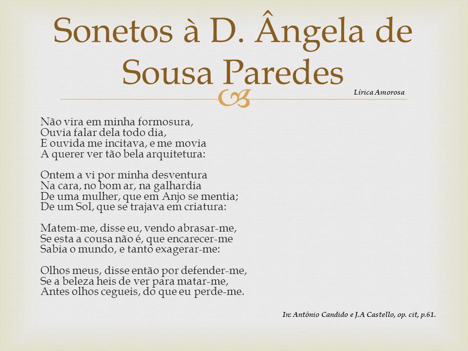 Sonetos à D. Ângela de Sousa Paredes