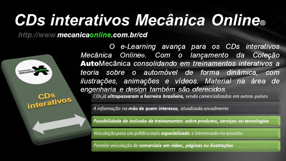 CDs interativos Mecânica Online®