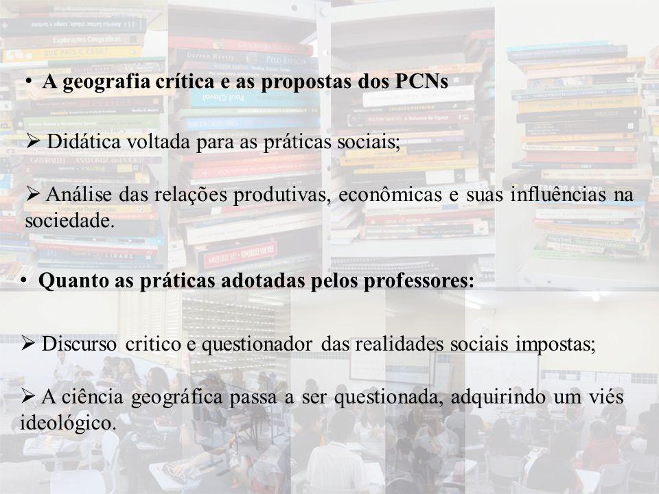 A geografia crítica e as propostas dos PCNs