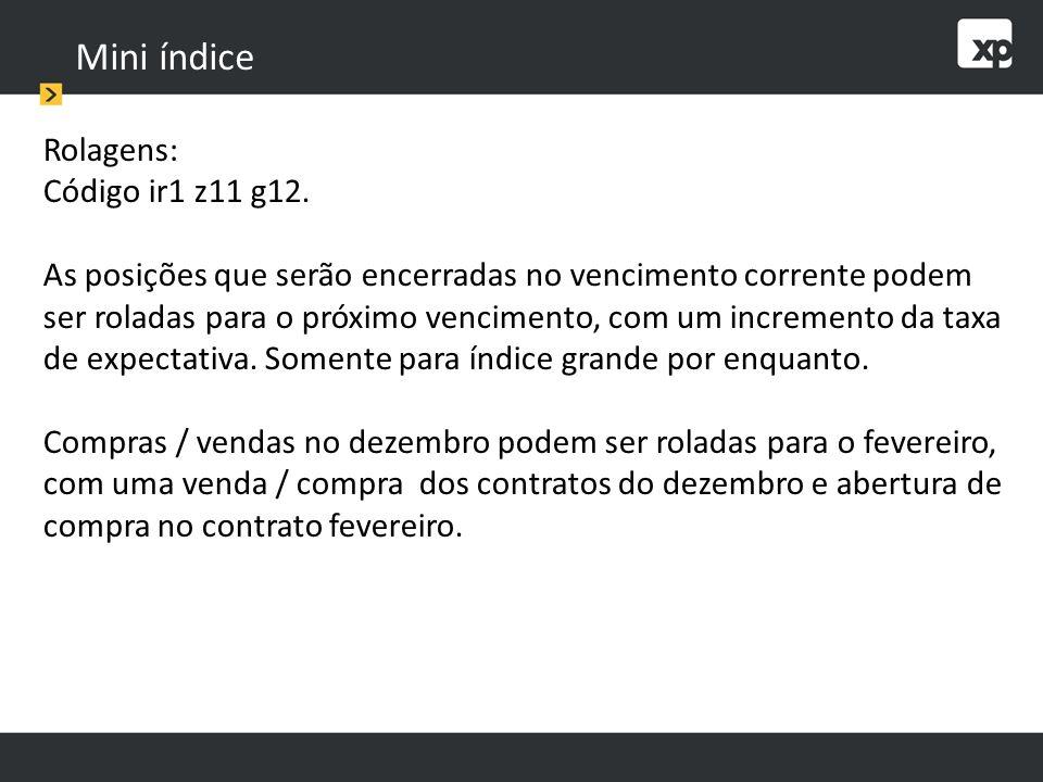 Mini índice Rolagens: Código ir1 z11 g12.