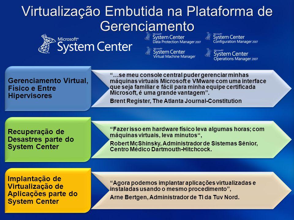 Virtualização Embutida na Plataforma de Gerenciamento