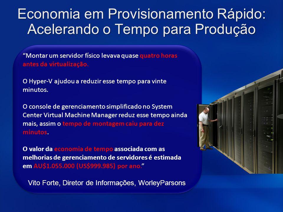 Economia em Provisionamento Rápido: Acelerando o Tempo para Produção