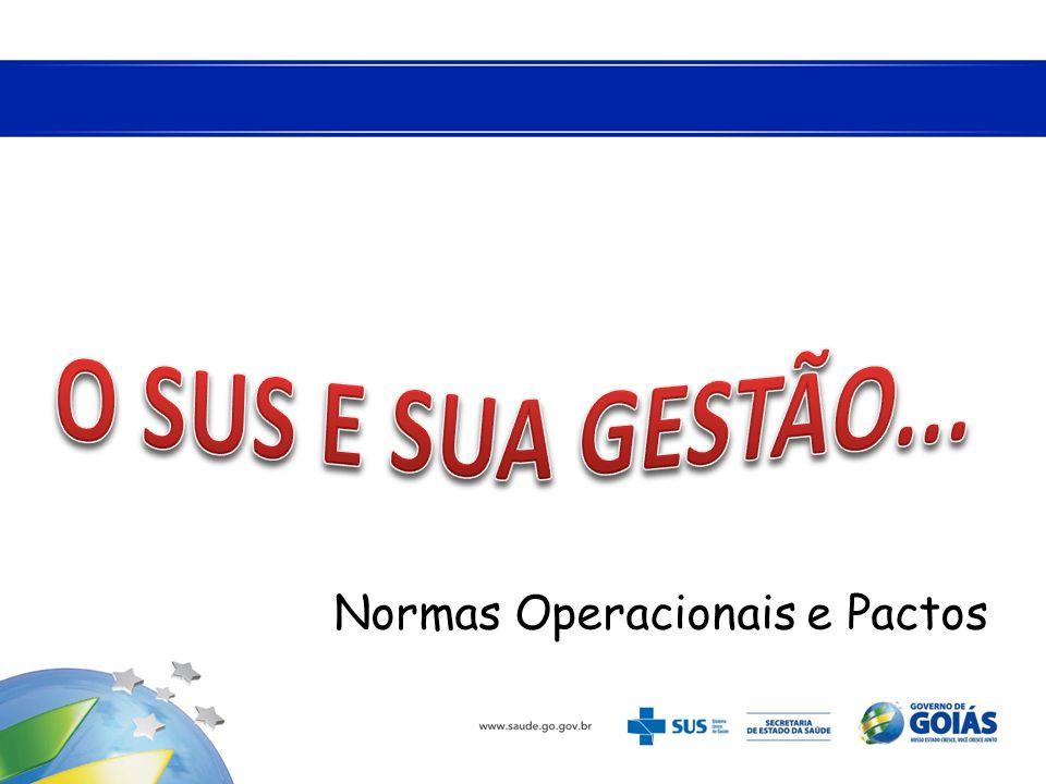 O SUS E SUA GESTÃO... Normas Operacionais e Pactos