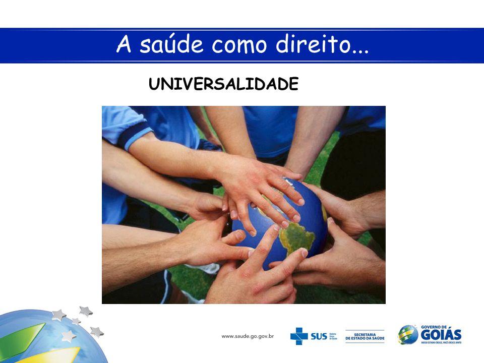 A saúde como direito... UNIVERSALIDADE